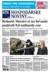 Hospodárske noviny 08.02.2017