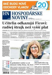 Hospodárske noviny 31.08.2017
