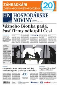 Hospodárske noviny 13.09.2018
