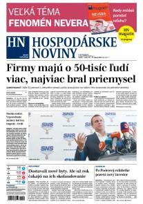 Hospodárske noviny 25.08.2017