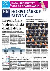 Hospodárske noviny 16.02.2017