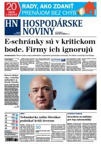 Hospodárske noviny 21.03.2017