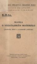 Nauka o vozatajském materiálu (1926)