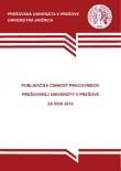 Publikačná činnosť pracovníkov Prešovskej univerzity v Prešove za rok 2010